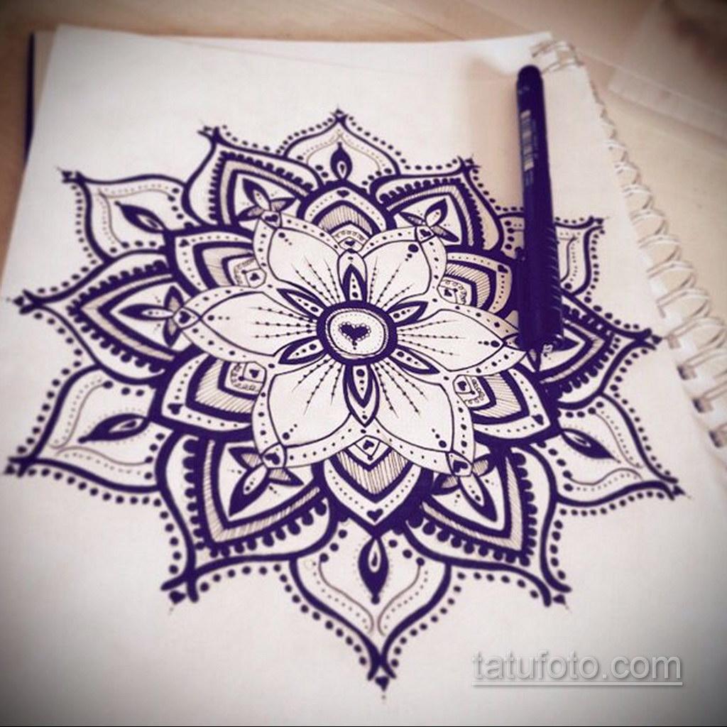 Фото рисунка тату мандала 22.11.2020 №085 -Mandala tattoo- tatufoto.com