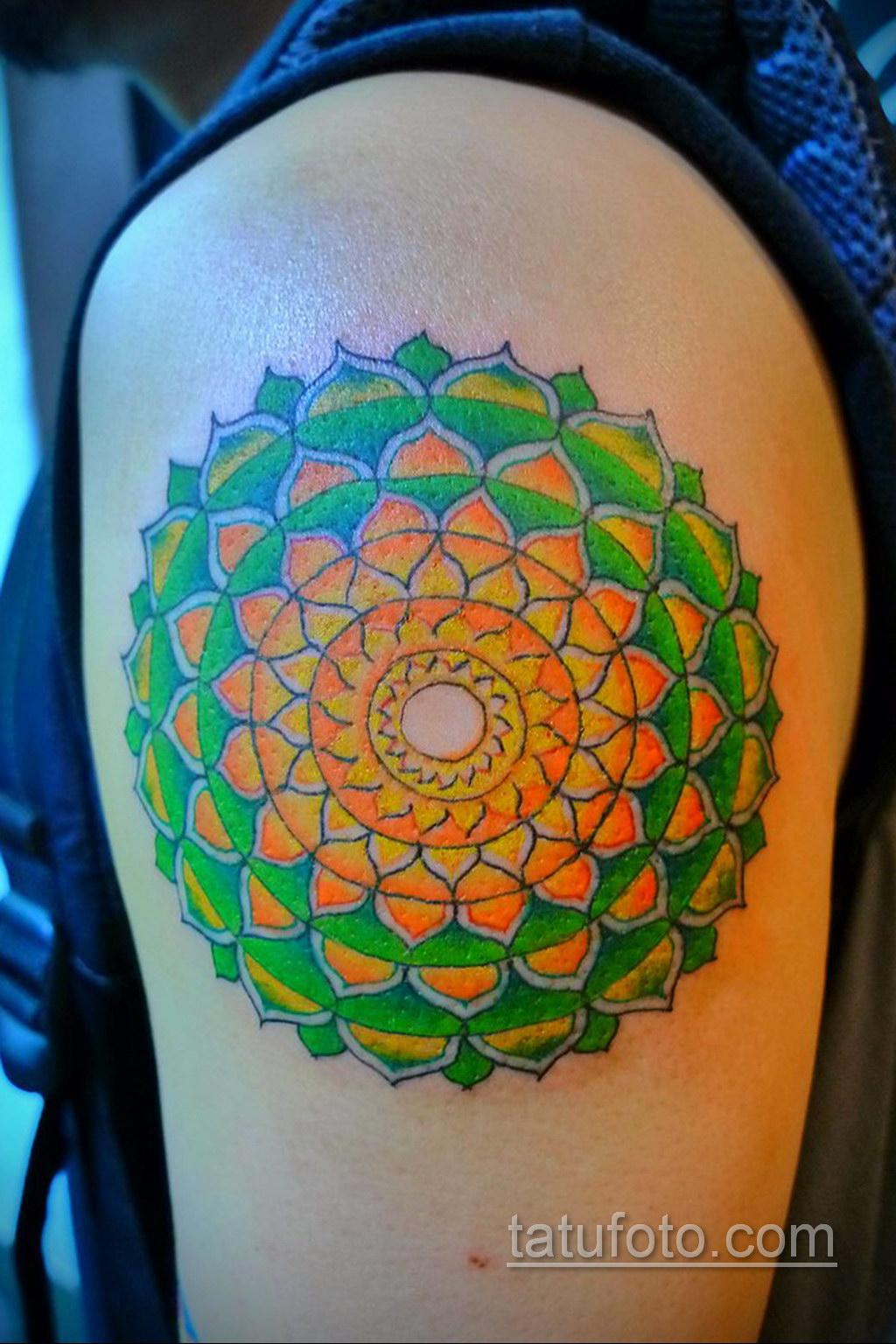 Фото рисунка тату мандала 22.11.2020 №099 -Mandala tattoo- tatufoto.com