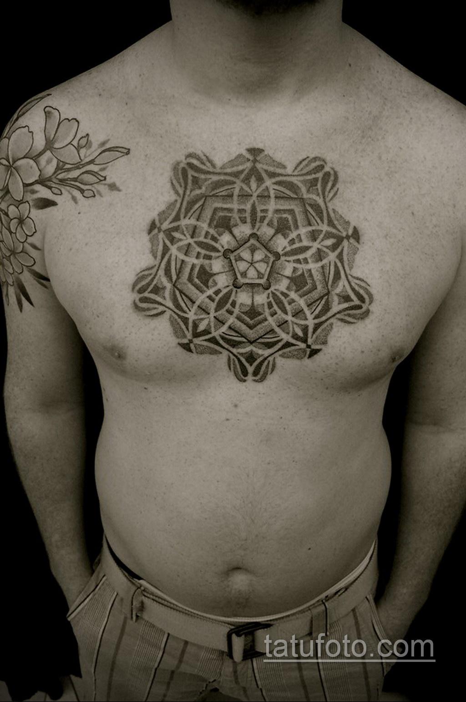 Фото рисунка тату мандала 22.11.2020 №120 -Mandala tattoo- tatufoto.com
