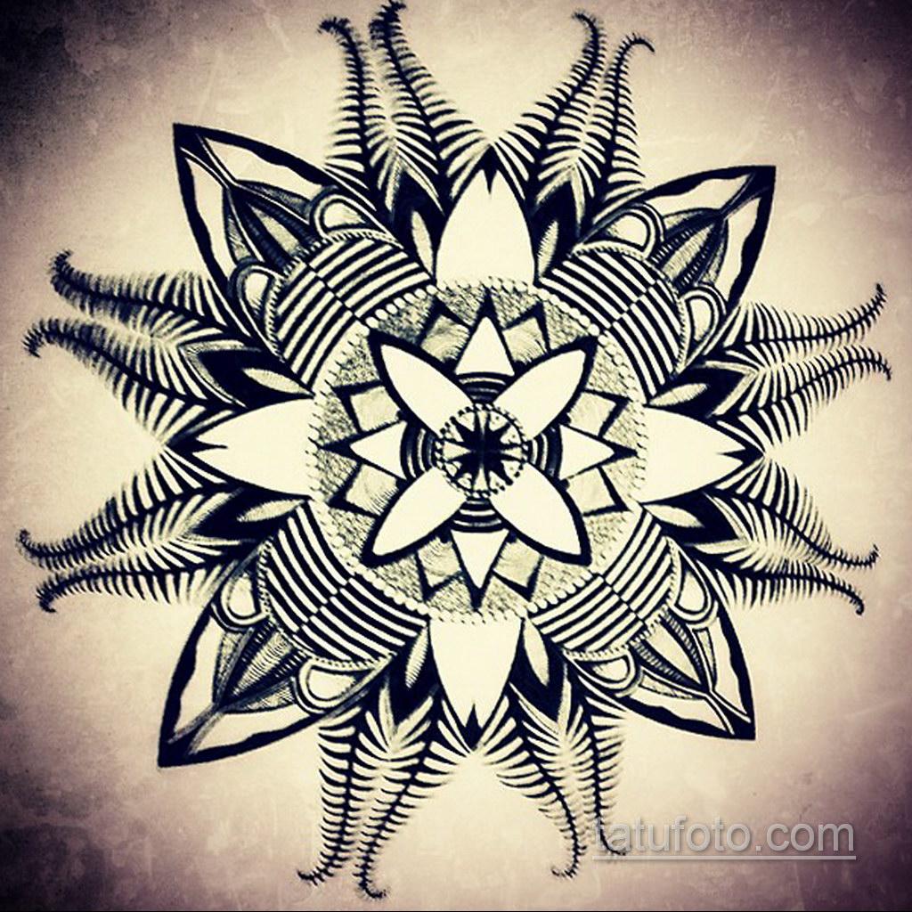 Фото рисунка тату мандала 22.11.2020 №144 -Mandala tattoo- tatufoto.com