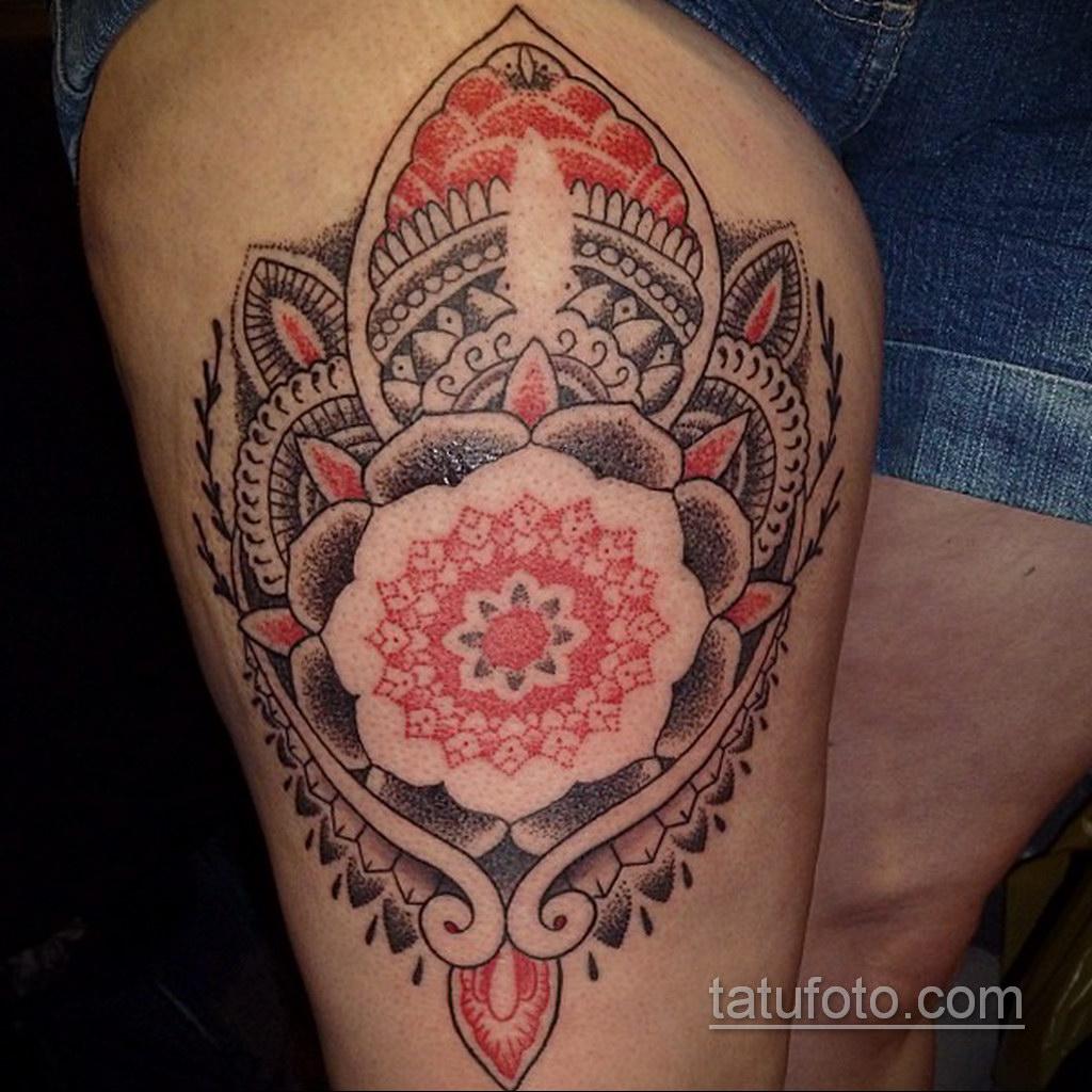 Фото рисунка тату мандала 22.11.2020 №147 -Mandala tattoo- tatufoto.com