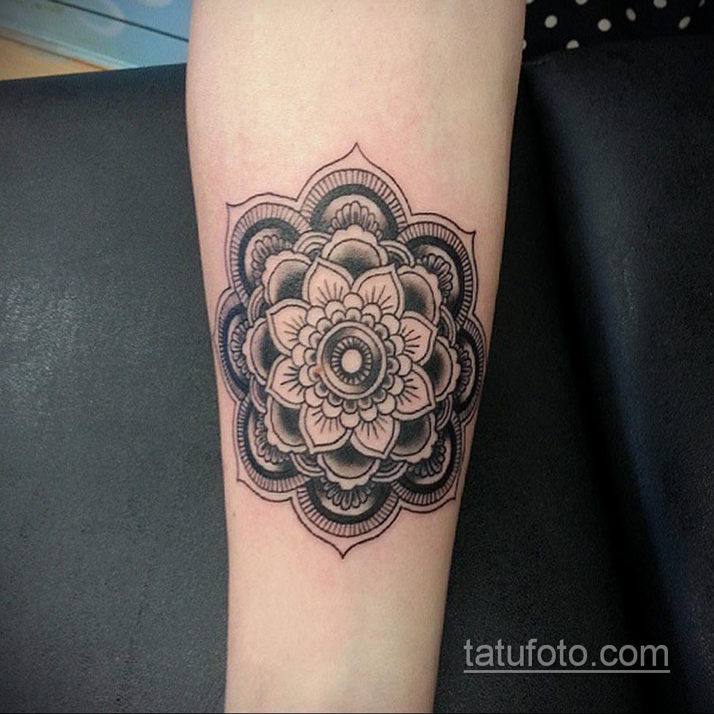 Фото рисунка тату мандала 22.11.2020 №148 -Mandala tattoo- tatufoto.com