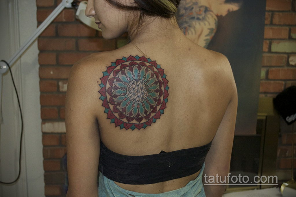 Фото рисунка тату мандала 22.11.2020 №155 -Mandala tattoo- tatufoto.com