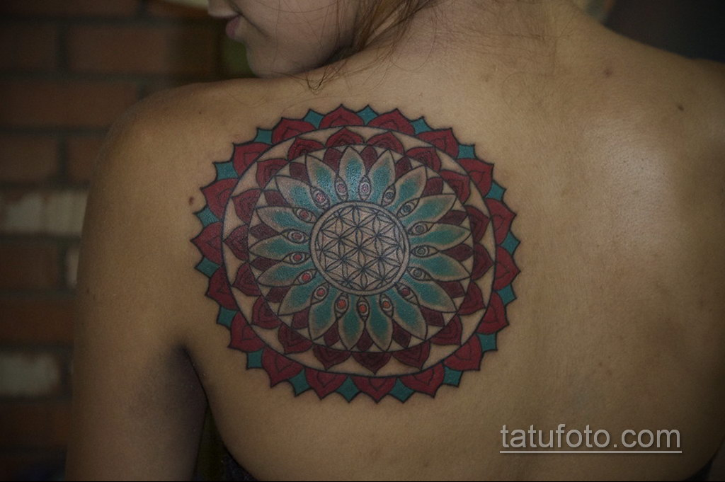 Фото рисунка тату мандала 22.11.2020 №156 -Mandala tattoo- tatufoto.com