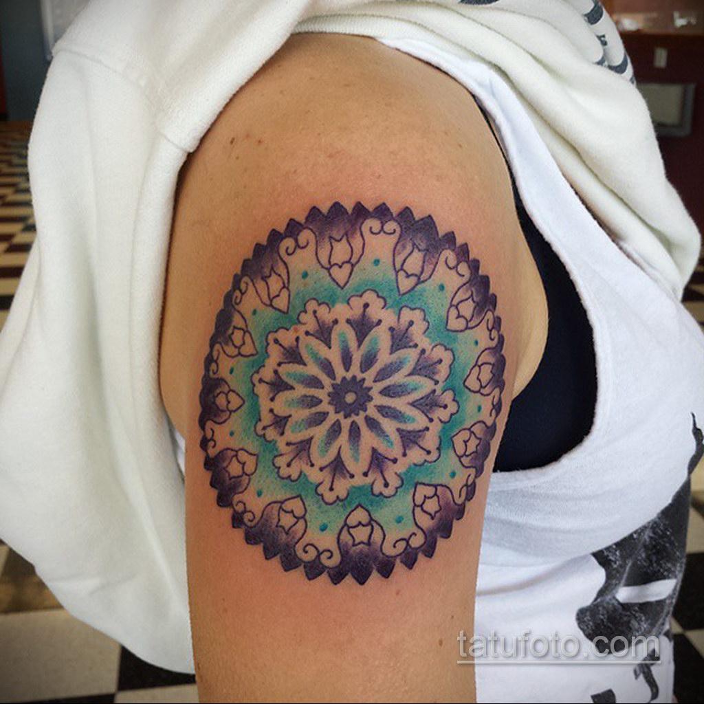 Фото рисунка тату мандала 22.11.2020 №196 -Mandala tattoo- tatufoto.com