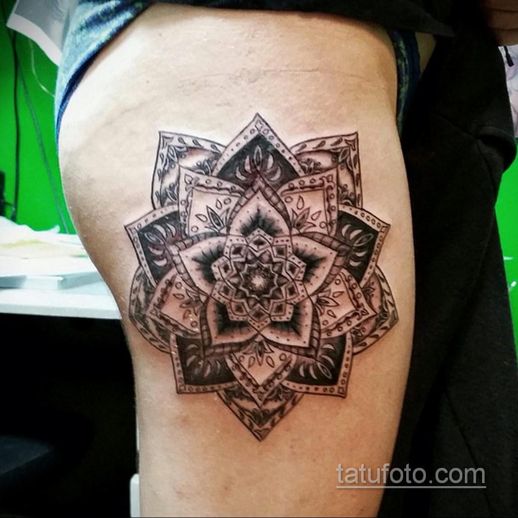 Фото рисунка тату мандала 22.11.2020 №220 -Mandala tattoo- tatufoto.com