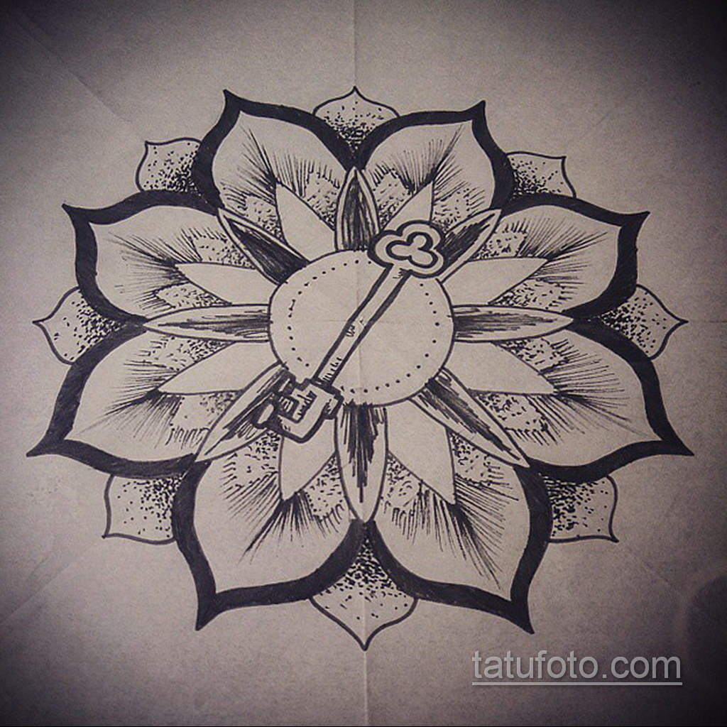 Фото рисунка тату мандала 22.11.2020 №222 -Mandala tattoo- tatufoto.com
