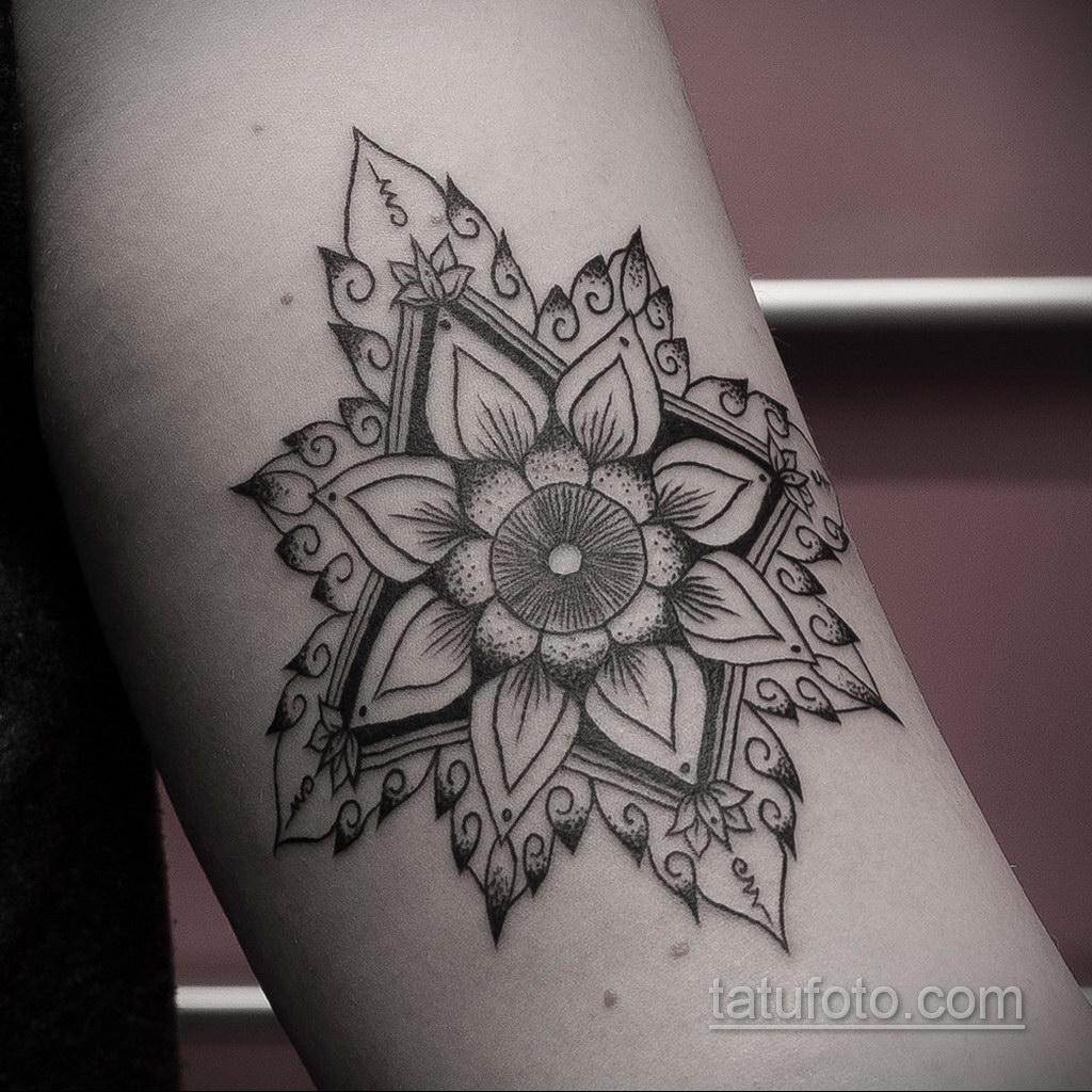 Фото рисунка тату мандала 22.11.2020 №248 -Mandala tattoo- tatufoto.com