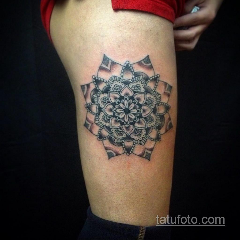 Фото рисунка тату мандала 22.11.2020 №265 -Mandala tattoo- tatufoto.com