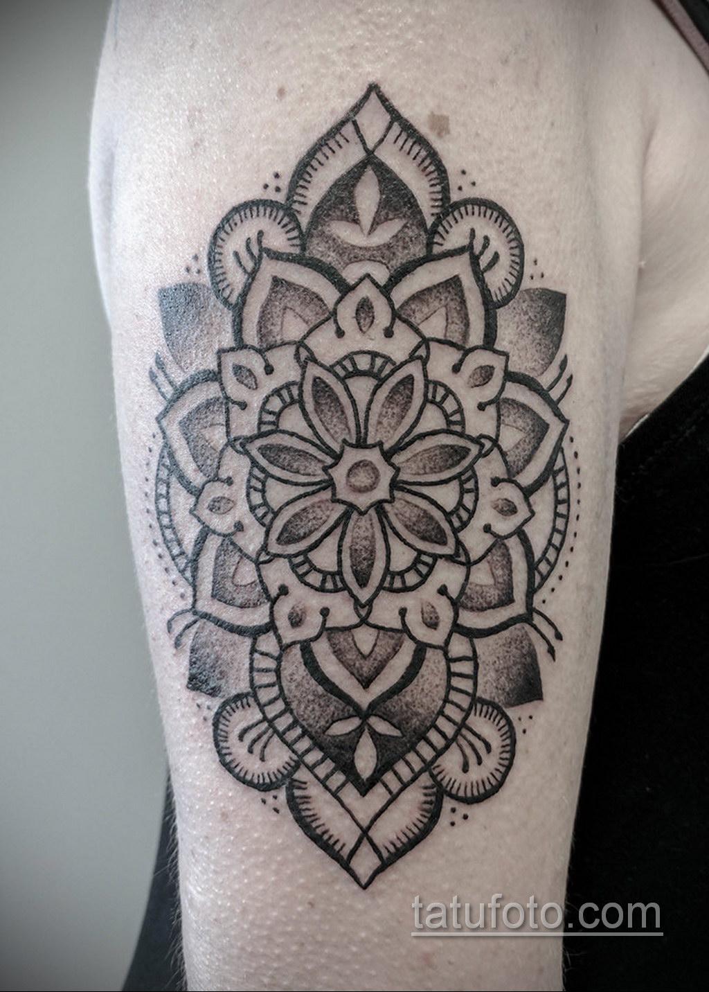 Фото рисунка тату мандала 22.11.2020 №314 -Mandala tattoo- tatufoto.com