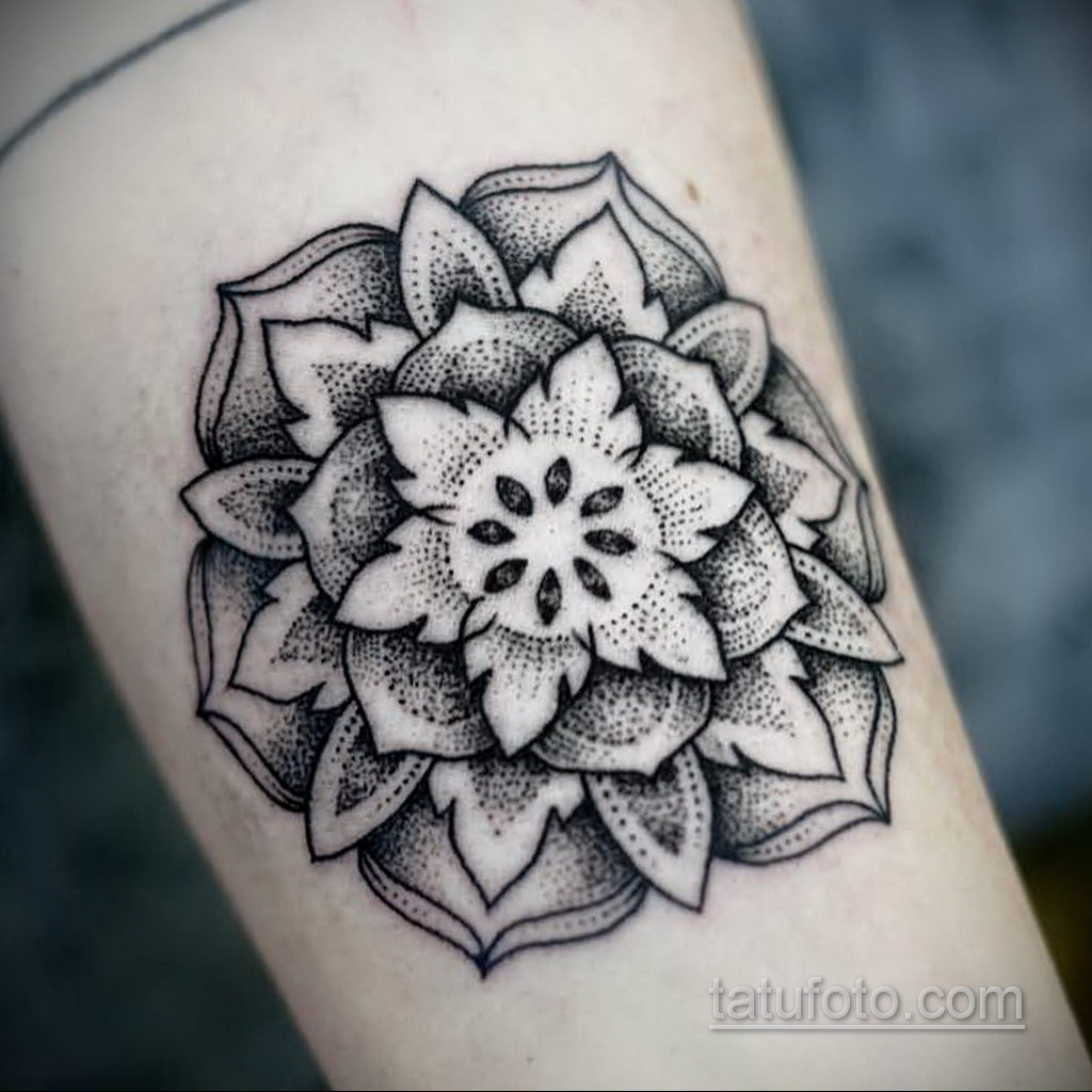Фото рисунка тату мандала 22.11.2020 №375 -Mandala tattoo- tatufoto.com