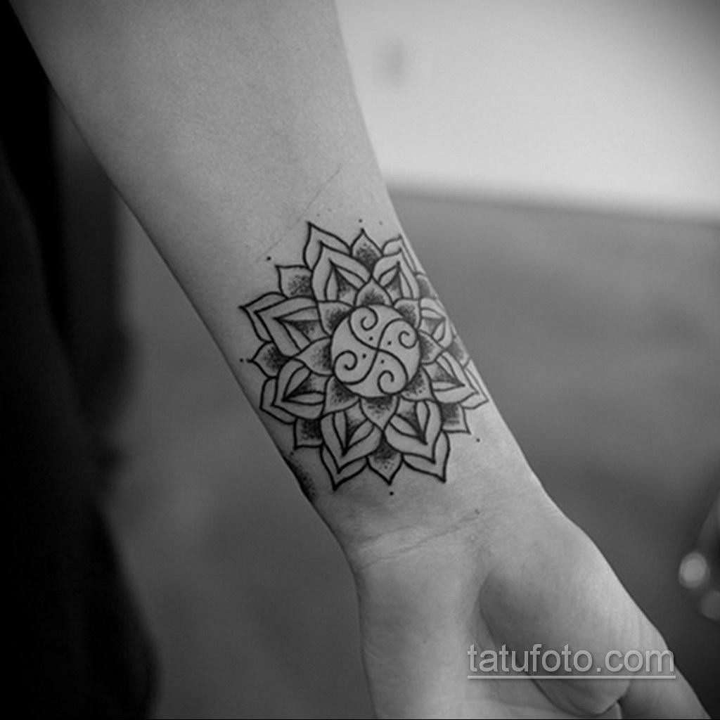 Фото рисунка тату мандала 22.11.2020 №441 -Mandala tattoo- tatufoto.com