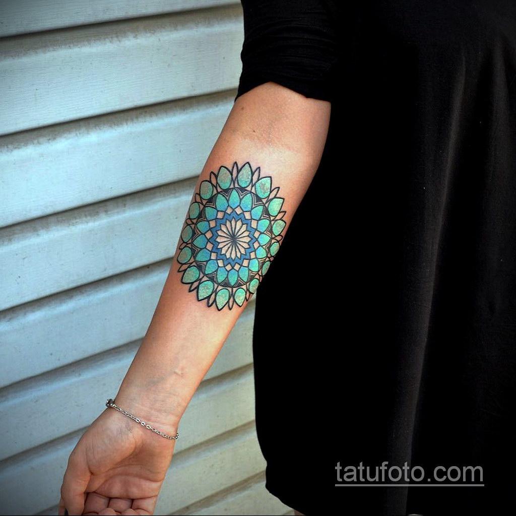 Фото рисунка тату мандала 22.11.2020 №495 -Mandala tattoo- tatufoto.com