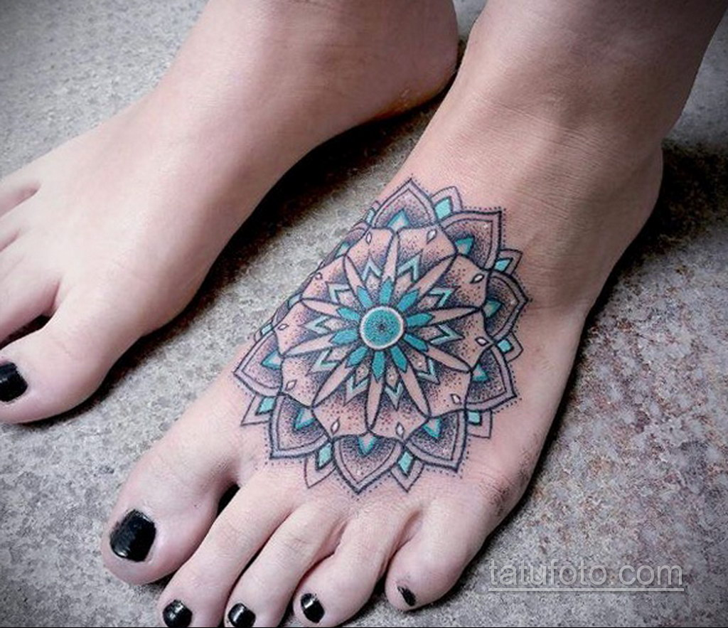 Фото рисунка тату мандала 22.11.2020 №547 -Mandala tattoo- tatufoto.com