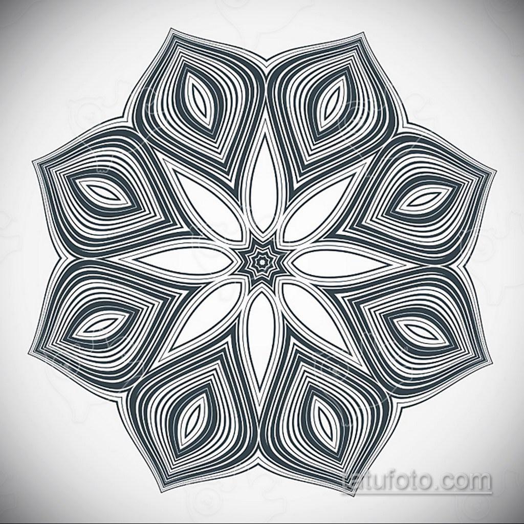 Фото рисунка тату мандала 22.11.2020 №607 -Mandala tattoo- tatufoto.com