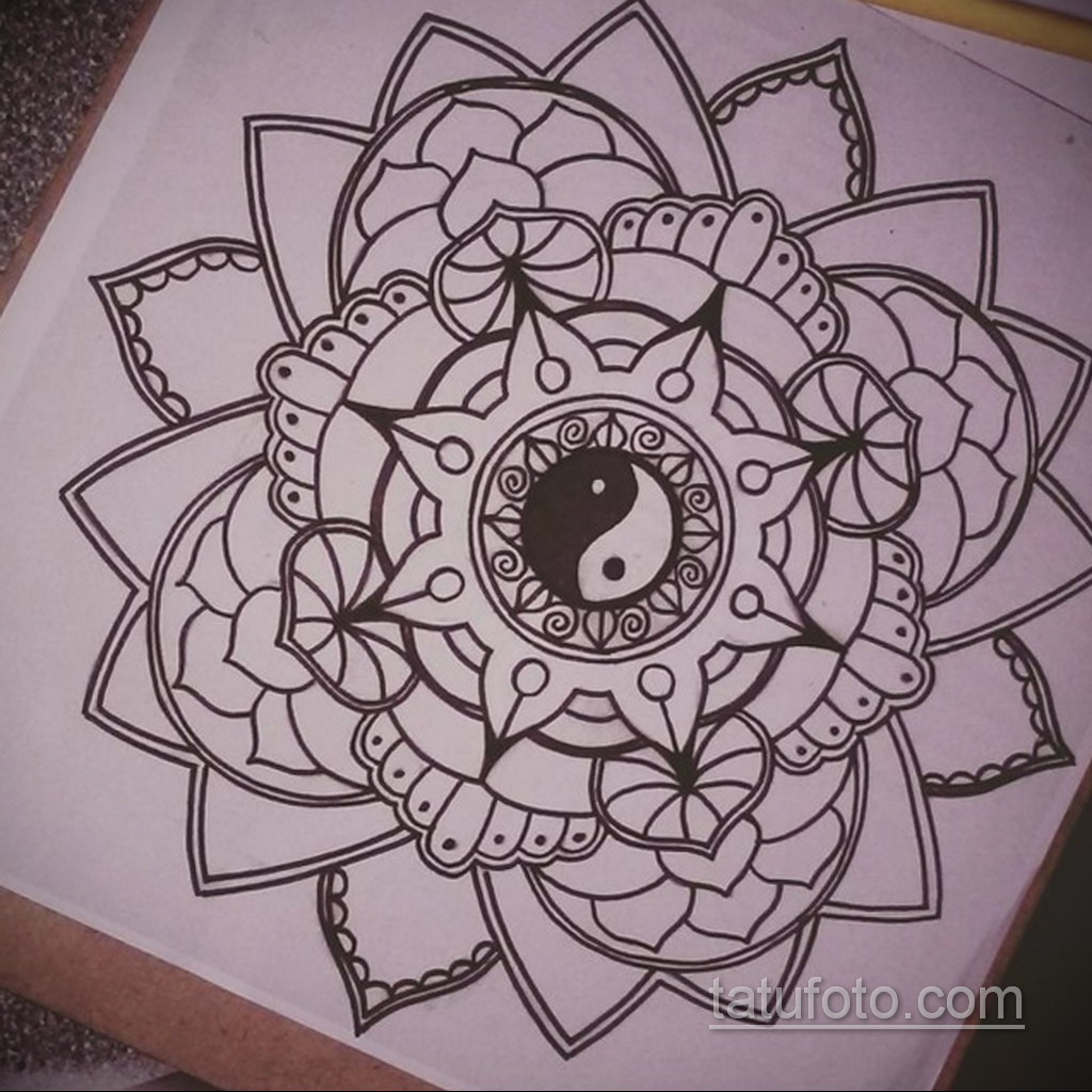 Фото рисунка тату мандала 22.11.2020 №649 -Mandala tattoo- tatufoto.com