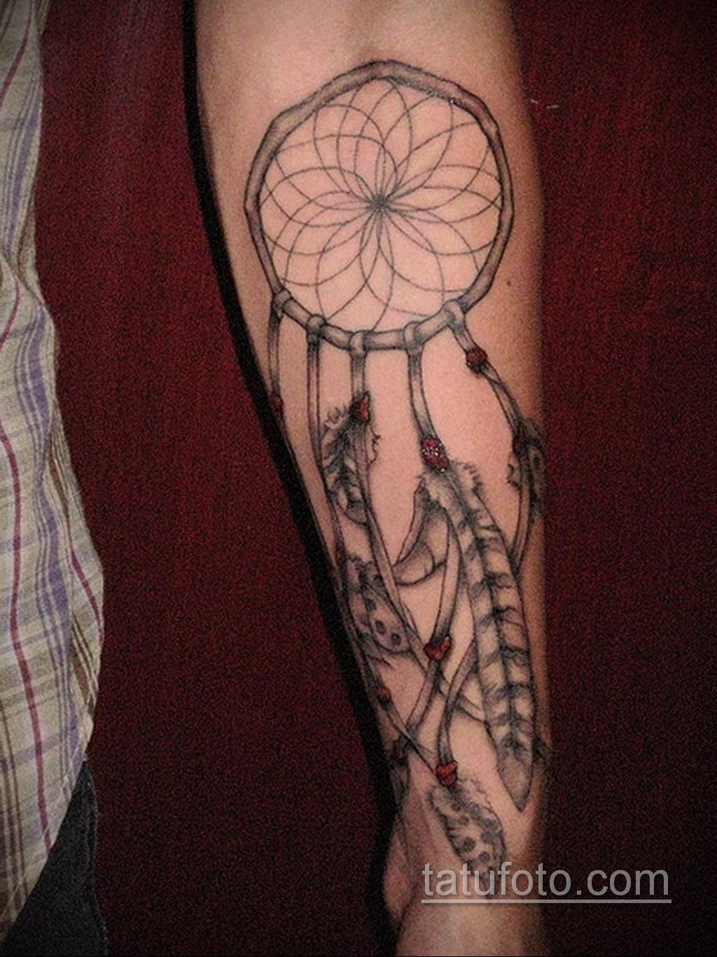 Фото рисунка тату с ловцом снов 22.11.2020 №128 -Dreamcatcher tattoo- tatufoto.com