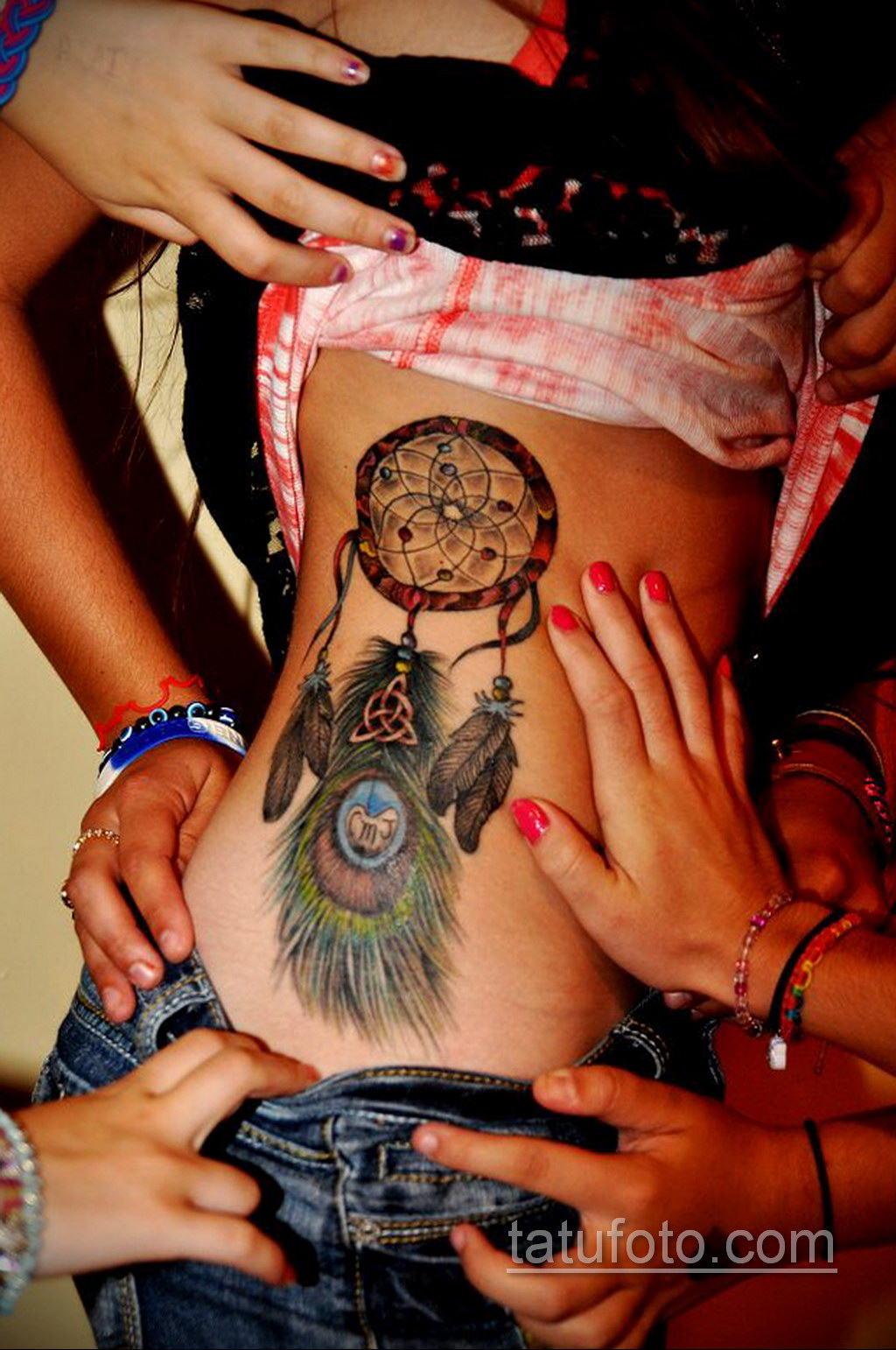 Фото рисунка тату с ловцом снов 22.11.2020 №131 -Dreamcatcher tattoo- tatufoto.com