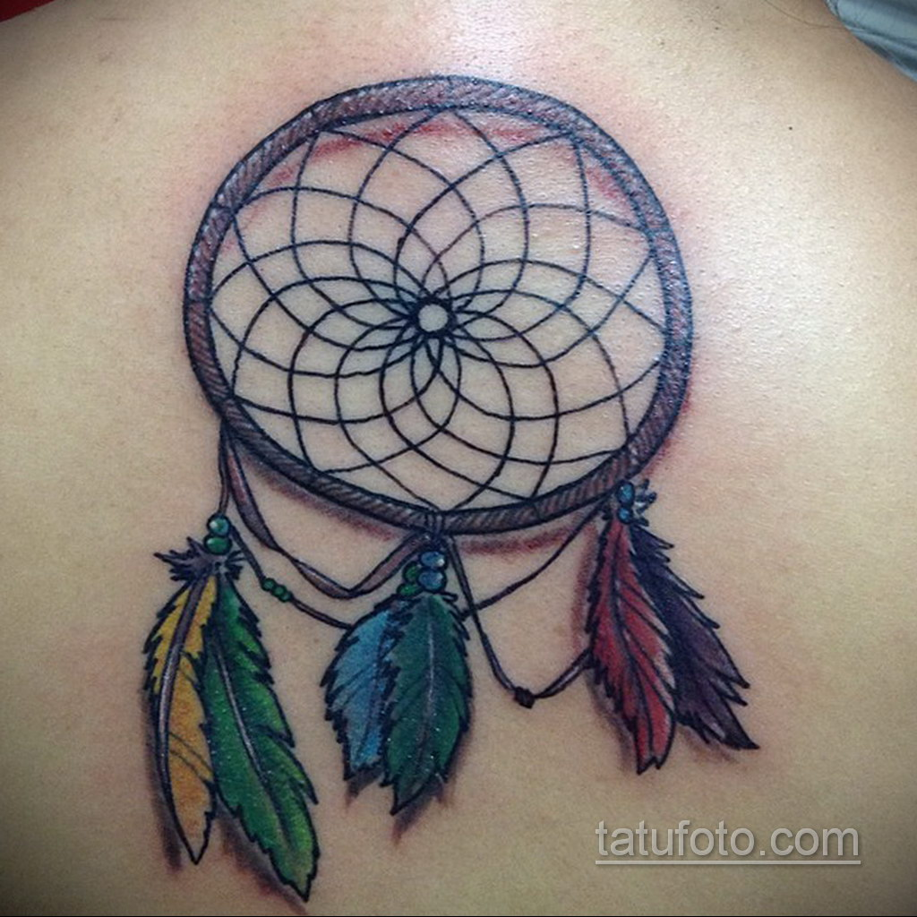 Фото рисунка тату с ловцом снов 22.11.2020 №324 -Dreamcatcher tattoo- tatufoto.com