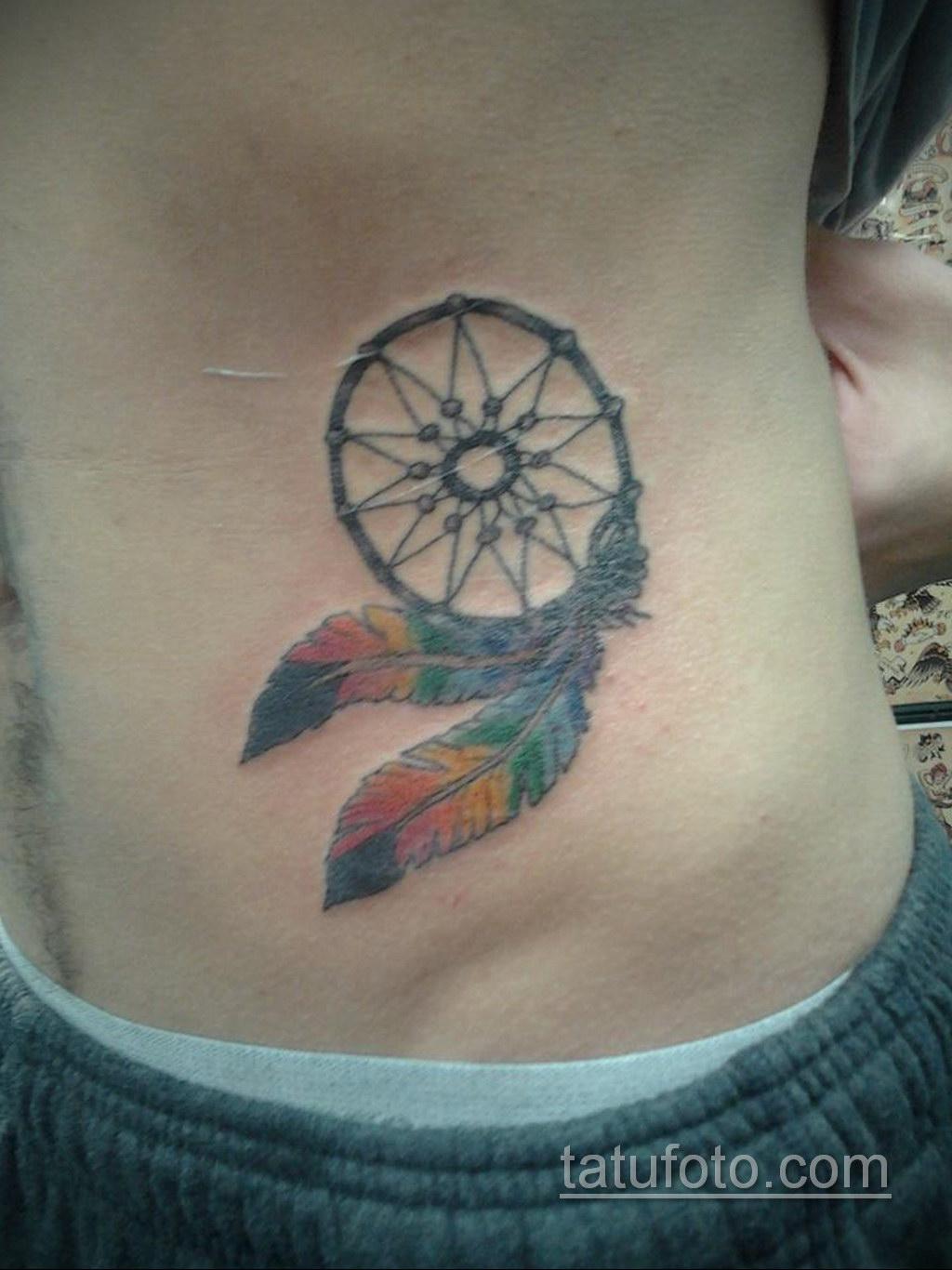 Фото рисунка тату с ловцом снов 22.11.2020 №465 -Dreamcatcher tattoo- tatufoto.com