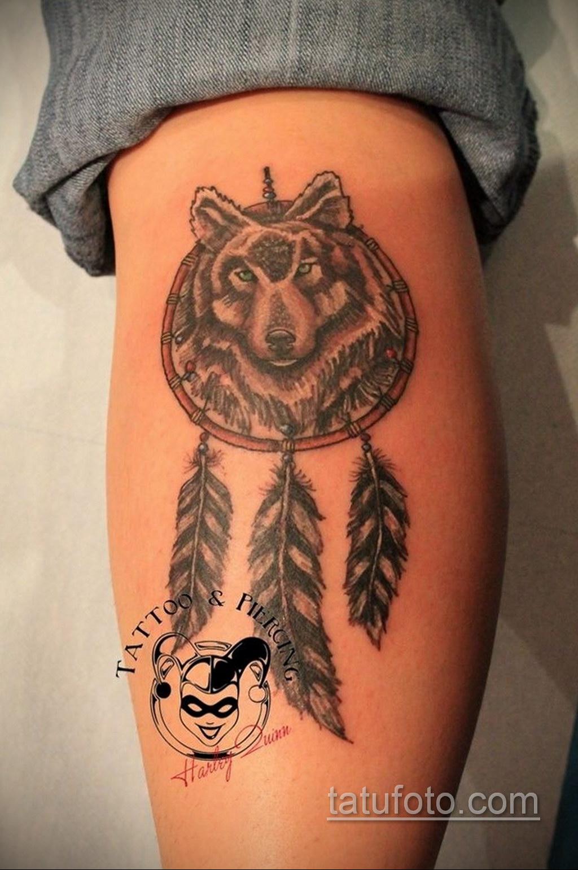Фото рисунка тату с ловцом снов 22.11.2020 №490 -Dreamcatcher tattoo- tatufoto.com
