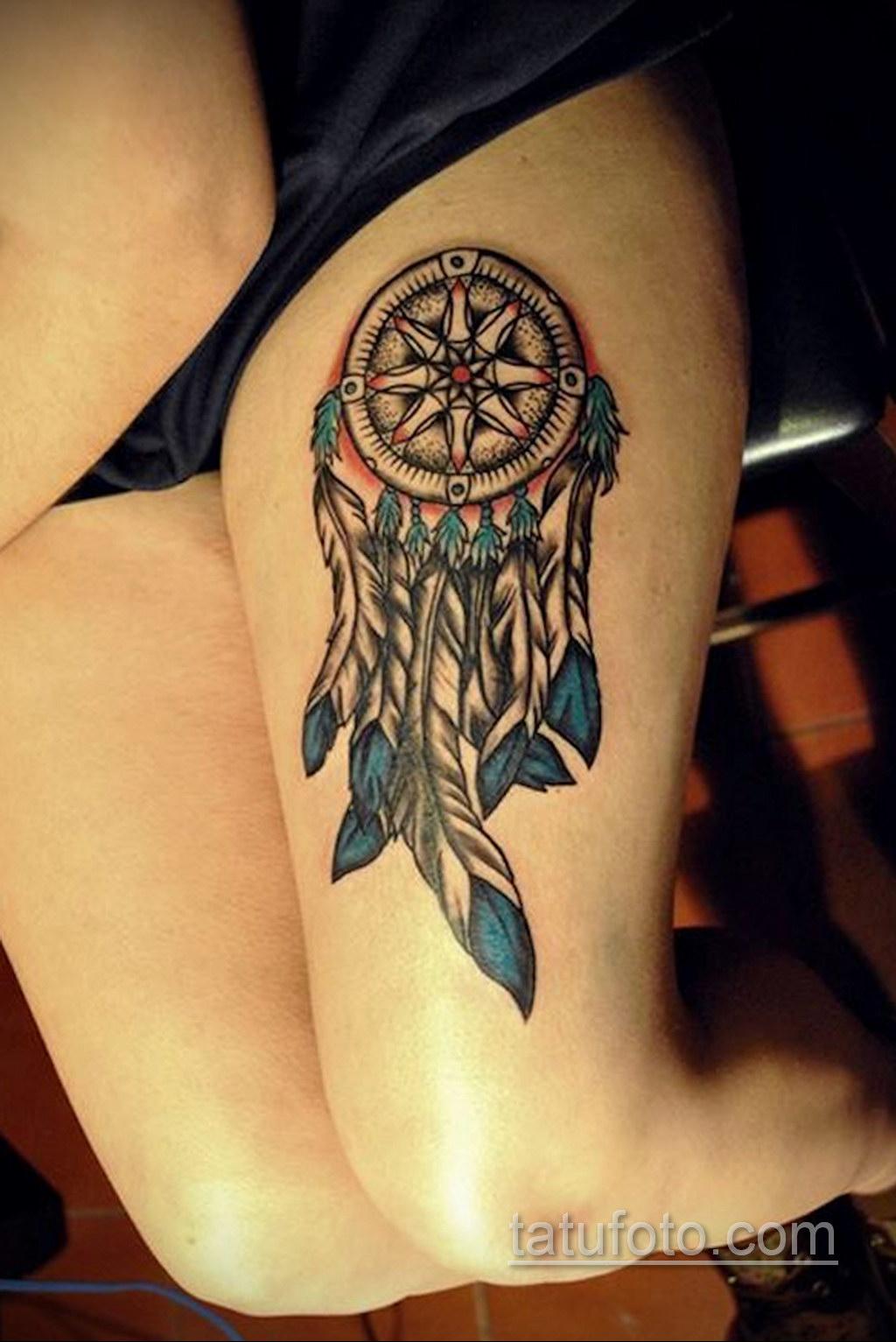 Фото рисунка тату с ловцом снов 22.11.2020 №631 -Dreamcatcher tattoo- tatufoto.com