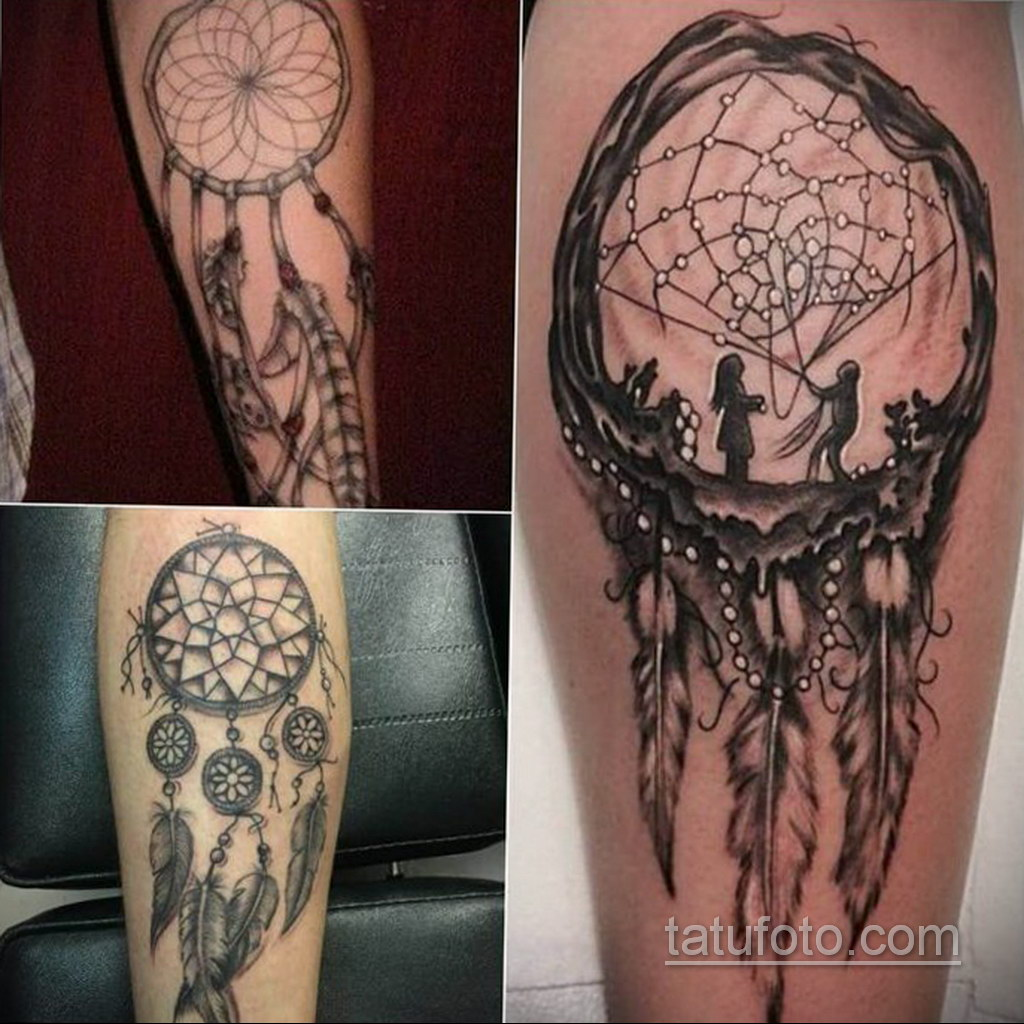 Фото рисунка тату с ловцом снов 22.11.2020 №634 -Dreamcatcher tattoo- tatufoto.com