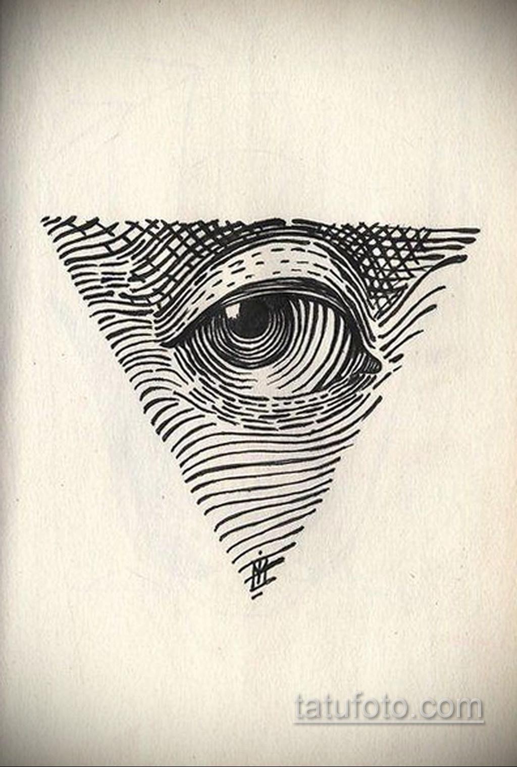 Фото рисунка тату с треугольником 22.11.2020 №005 -triangle tattoo- tatufoto.com