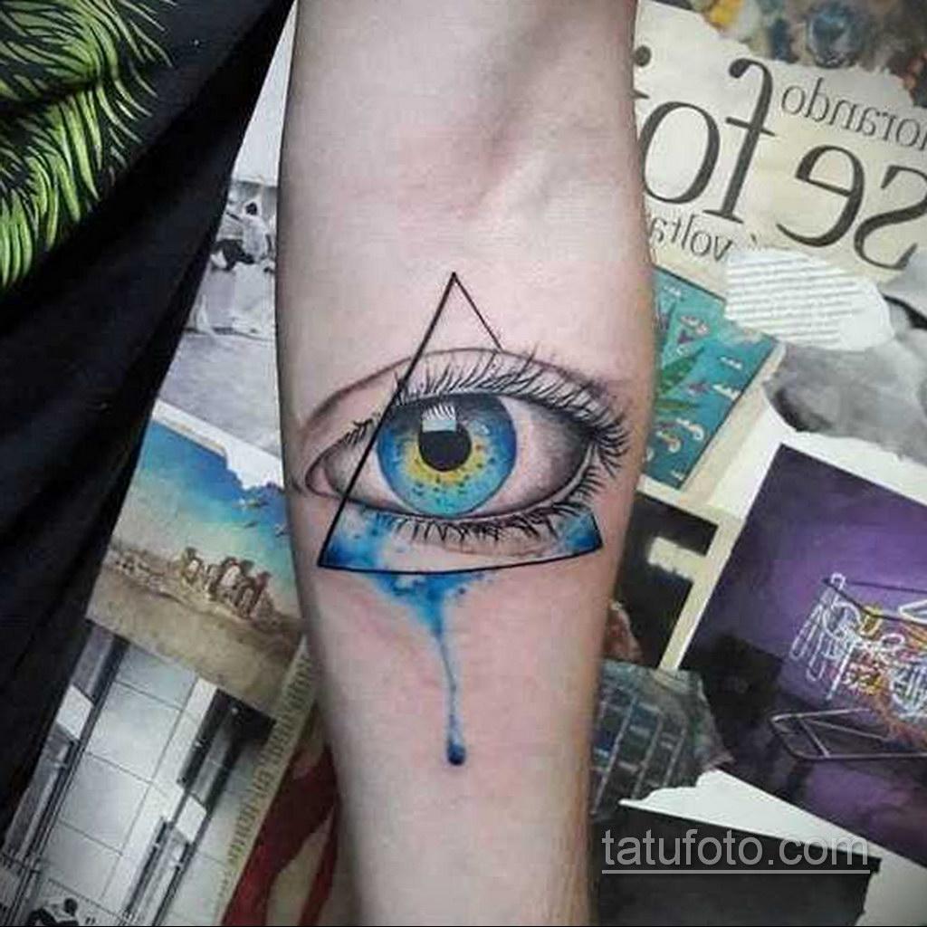 Фото рисунка тату с треугольником 22.11.2020 №010 -triangle tattoo- tatufoto.com