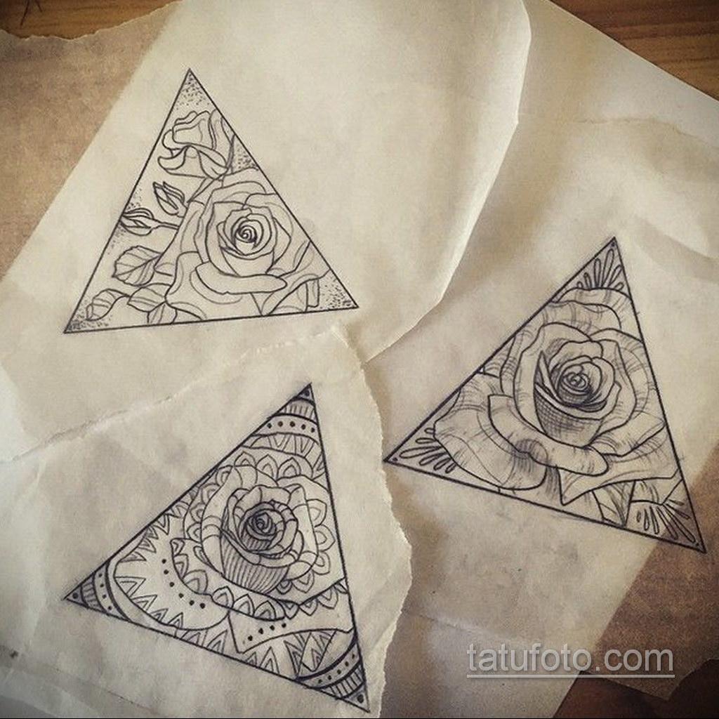 Фото рисунка тату с треугольником 22.11.2020 №026 -triangle tattoo- tatufoto.com