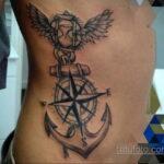 Фото татуировки на ребрах 11.11.2020 №056 -ribs tattoo- tatufoto.com