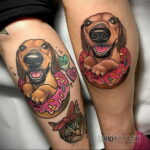 Фото татуировки с пончиком 22.11.2020 №206 -donut tattoo- tatufoto.com