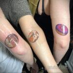 Фото татуировки с пончиком 22.11.2020 №214 -donut tattoo- tatufoto.com