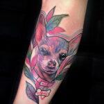 Пример Татуировки Чихуахуа 16.12.2020 №218 -Chihuahua Tattoo- tatufoto.com