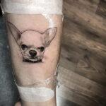 Пример Татуировки Чихуахуа 16.12.2020 №221 -Chihuahua Tattoo- tatufoto.com