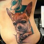 Пример Татуировки Чихуахуа 16.12.2020 №227 -Chihuahua Tattoo- tatufoto.com