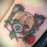 Пример Татуировки Чихуахуа 16.12.2020 №234 -Chihuahua Tattoo- tatufoto.com