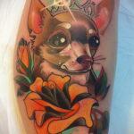 Пример Татуировки Чихуахуа 16.12.2020 №237 -Chihuahua Tattoo- tatufoto.com