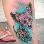 Пример Татуировки Чихуахуа 16.12.2020 №241 -Chihuahua Tattoo- tatufoto.com