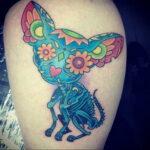 Пример Татуировки Чихуахуа 16.12.2020 №242 -Chihuahua Tattoo- tatufoto.com