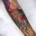 Пример рисунка татуировки апельсином 12.12.2020 №1055 -orange tattoo- tatufoto.com
