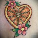 Пример рисунка татуировки апельсином 12.12.2020 №1058 -orange tattoo- tatufoto.com