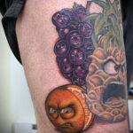 Пример рисунка татуировки апельсином 12.12.2020 №1063 -orange tattoo- tatufoto.com