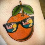Пример рисунка татуировки апельсином 12.12.2020 №1084 -orange tattoo- tatufoto.com