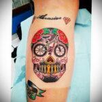 Пример рисунка татуировки про велосипед 15.12.2020 №230 -bike tattoo- tatufoto.com