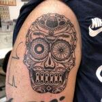 Пример рисунка татуировки про велосипед 15.12.2020 №232 -bike tattoo- tatufoto.com