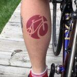 Пример рисунка татуировки про велосипед 15.12.2020 №240 -bike tattoo- tatufoto.com