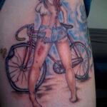 Пример рисунка татуировки про велосипед 15.12.2020 №249 -bike tattoo- tatufoto.com