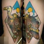 Пример рисунка татуировки птица Гриф 13.12.2020 №390 -tattoo vulture- tatufoto.com