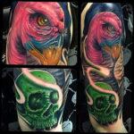 Пример рисунка татуировки птица Гриф 13.12.2020 №408 -tattoo vulture- tatufoto.com